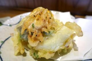 桜海老、新玉葱のかき揚げ