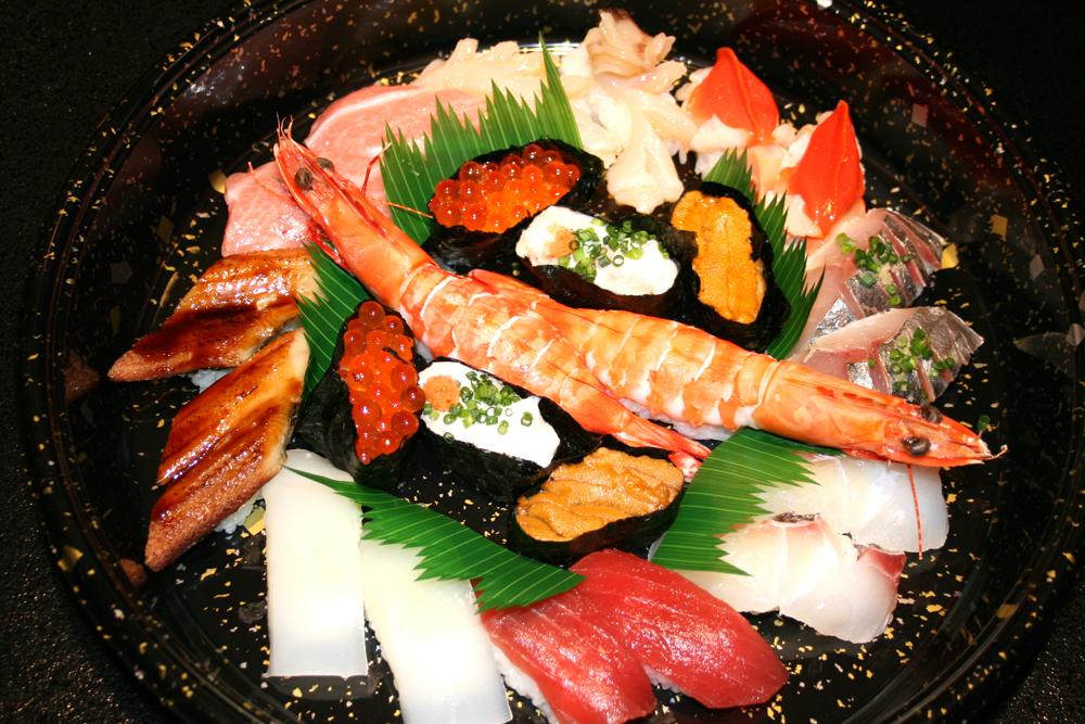 祝辞事の寿司盛り