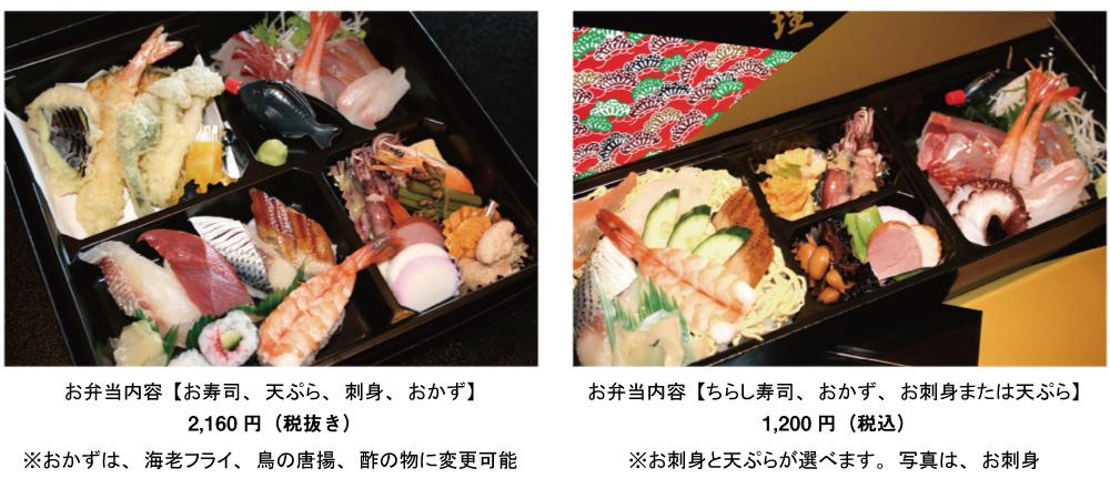 山口市小郡お寿司のテイクアウトお弁当